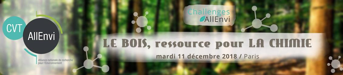 Journée Challenges AllEnvi – Le bois, ressource pour la chimie
