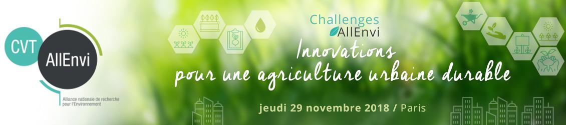 Journée Challenges AllEnvi – Innovation pour une agriculture urbaine durable